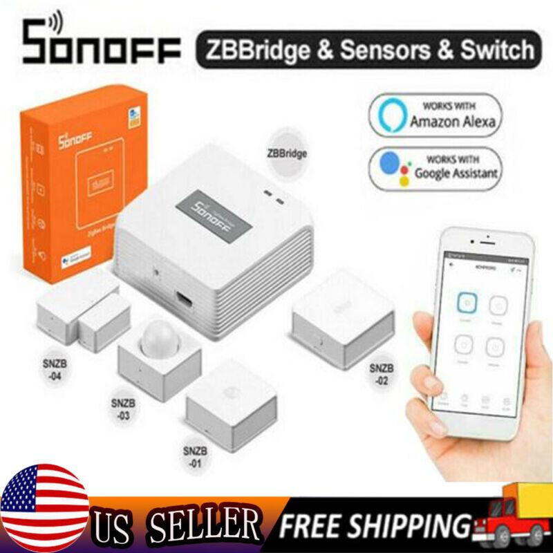 SONOFF SNZB Smart Home Zigbee Bridge Wireless Switch Door/Window Motion Sensor