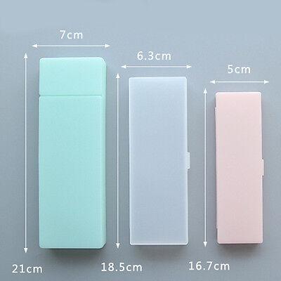 Creative Transparent Plastic Pencil Case Multifunction Pen Box School Supplies U