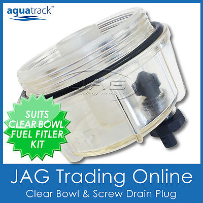 CLEAR BOWL & DRAIN ONLY - Suits Fuel Filter Water Separator Boat/Marine/Outboard