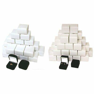 Gift Boxes Black Flocked Jewelry 24 Square Ring Boxes 36 Earring Velvet Box Kit