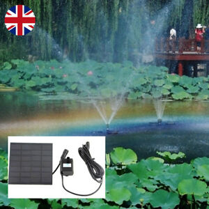 Solar Panel Powered Water Feature Pump Garden Pool Pond Aquarium Fountain UK