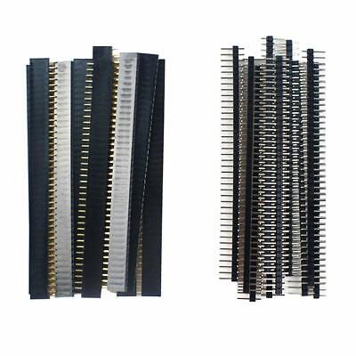 20pcs 10 pairs 40 Pin 1x40 Single Row Male and Female 2.54 Breakable Pin Header