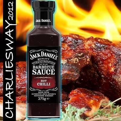 JACK DANIEL'S HOT CHILLI BBQ BARBECUE SALSA SPECIALITA' DAL MONDO INTROVABILE