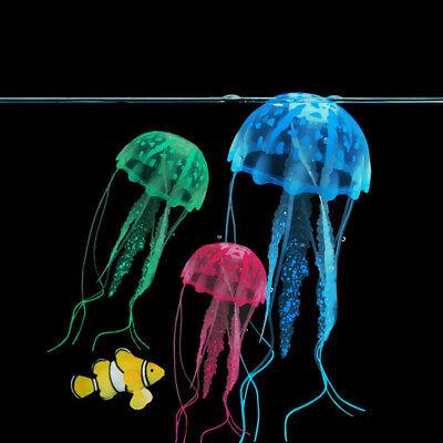 3Pcs Artificial Jellyfish Coral Underwater Ornaments Aquarium Fish Tank Random