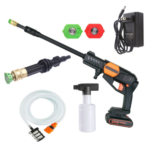 Cordless Pressure Washer Portable Power Cleaner 320 psi /2.0A Battery & Charger
