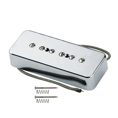 New Alnico 5 Soapbar P90 Electric Guitar Pickup Single Coil Bridge Pickup Chrome for sale  Shipping to Canada