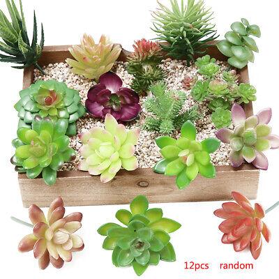 12x Artificial Succulent Plants Assorted Unpotted Home Garden Fake Flower Decor