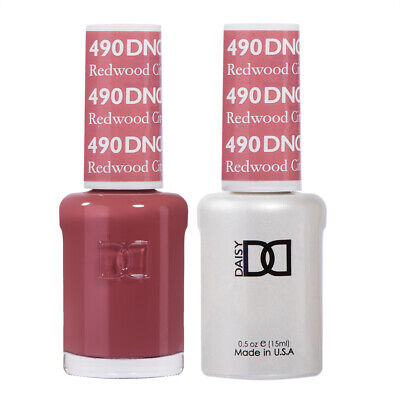 DND Daisy Duo Gel W/ matching nail polish lacquer -REDWOOD C