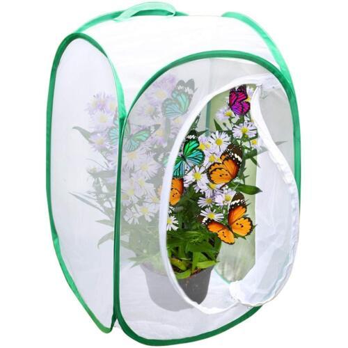 "Backyard Butterfly Cage Habitat: 24"" Tall,Collapsible,Pop-up Terrarium,Fine Mesh"