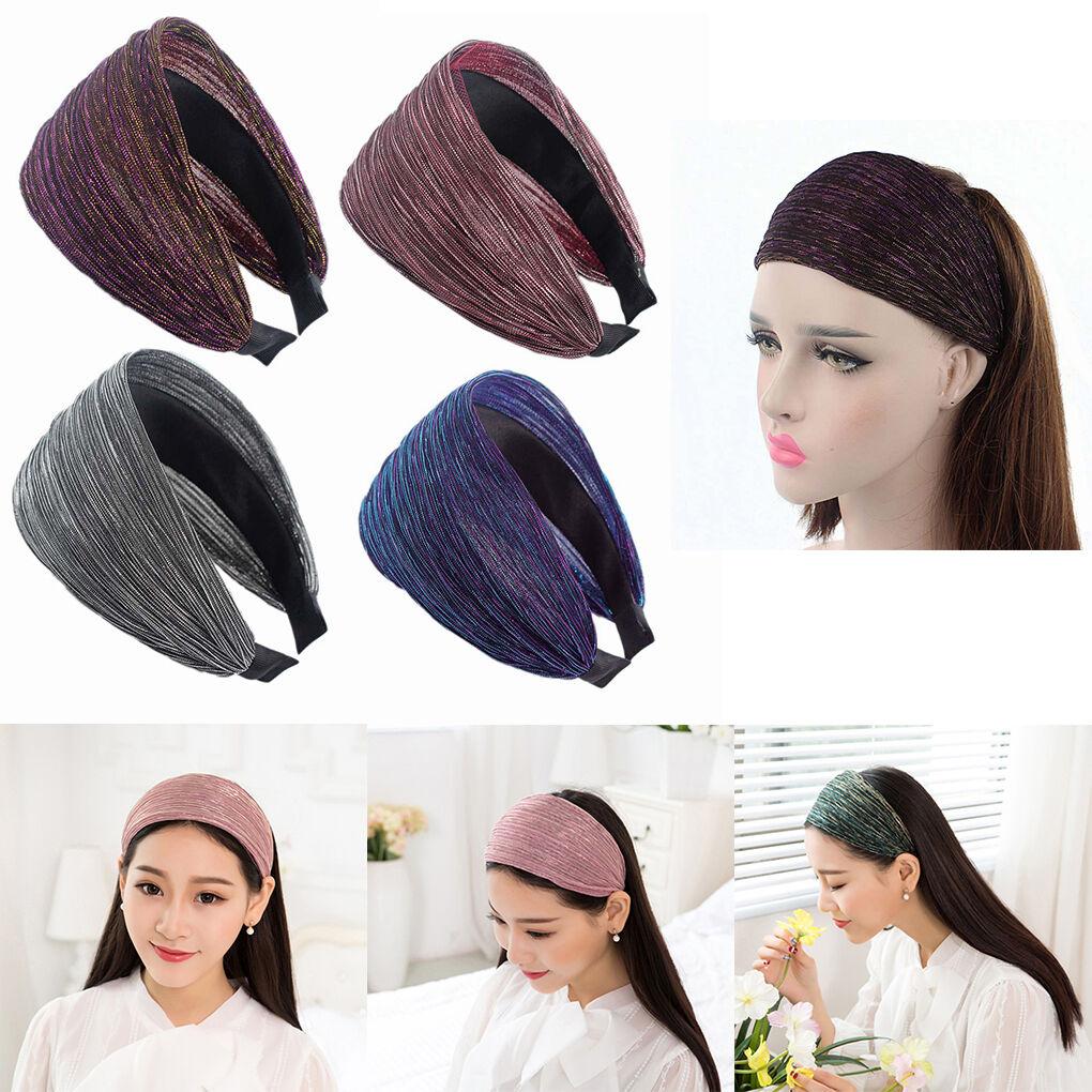 Women Lace Hair Hoop Headband Floral Wide Hair Band Hairwear Fashion Acces