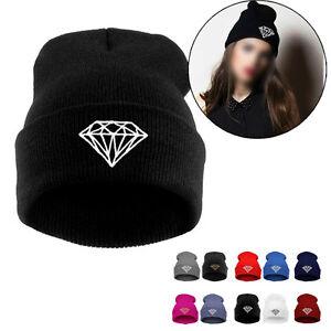 DIAMOND-pattern-Hip-Hop-Cap-Men-Women-039-s-Beanies-Winter-Cotton-Knit-Wool-Hats