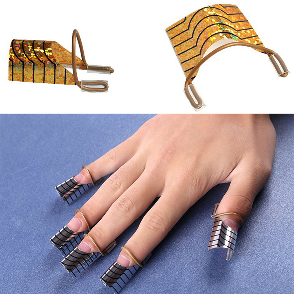 5pcs Reusable UV Gel Acrylic Tips Nail Art Extension Guide Form Tool ...