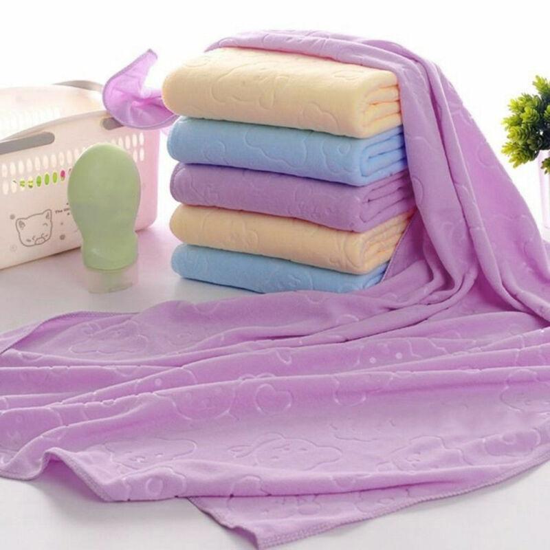 Antibacterial Bear Shape Microfiber Dry Body Absorbent Shower Cloth Bath Towels