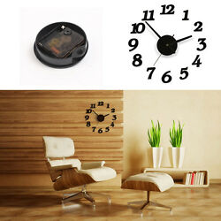 Creative Modern DIY Wall Clock 3D Sticker Home Room Office store Decor Time tool