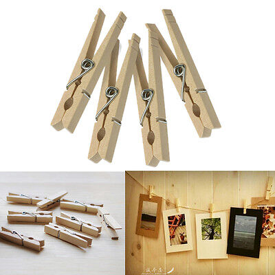 Cloth Pins (1/10/30/50/100 New Clothes Pins Traditional Wooden Spring Clothespins)