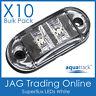 10 x 12V SUPERFLUX WHITE LED MARKER LAMPS - Car/Truck/Caravan Clearance Lights