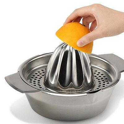 Stainless Steel Citrus Juicer Lemon Lime Orange Fruit Hand Squeezer Press Tool