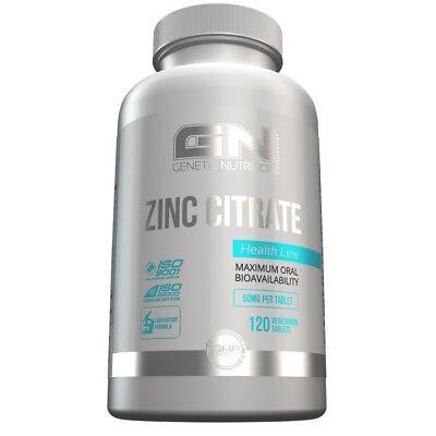 GN Laboratories - Zinc Citrate, 120 Tabletten -  sehr hohe Bioverfügbarkeit  - Citrat 120 Kapseln