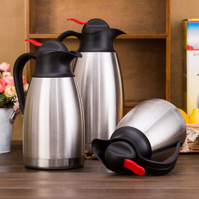 Stainless Steel Coffee Vacuum jug Flasks Insulated Thermos Thermal Water Kettle