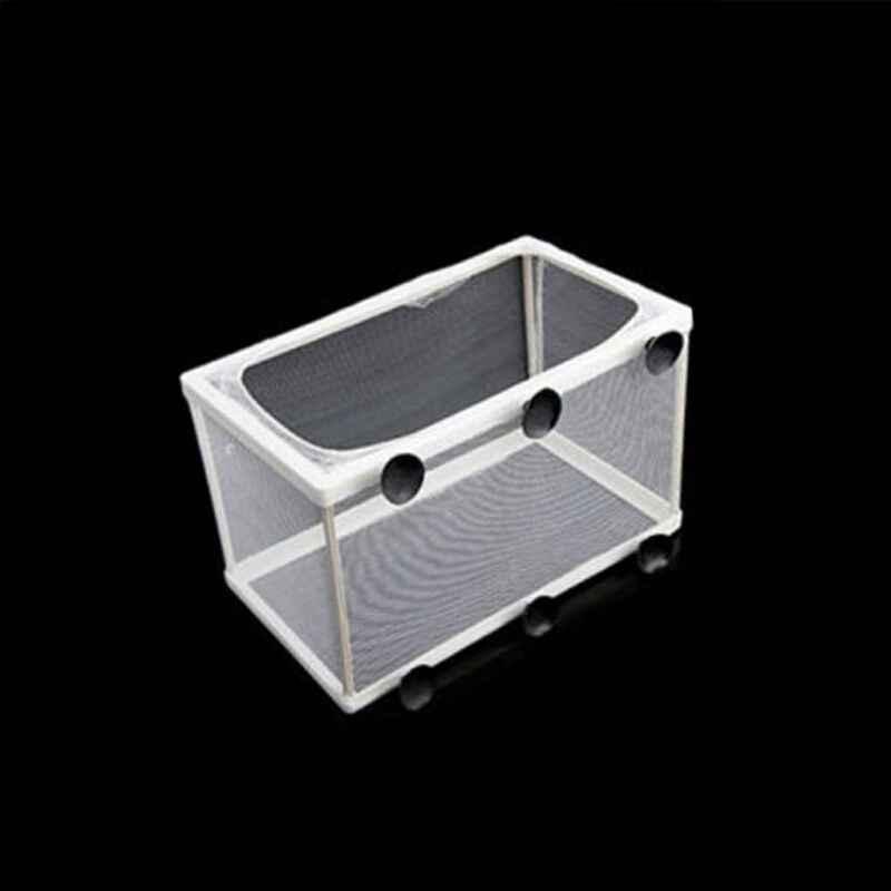 New Aquarium Fish Tank Breeding Guppy Breeder Fish Baby Gauze Trap Box Isolator