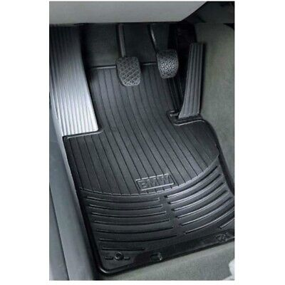 For BMW E39 5 Series Front Black Rubber All Weather Floor Mats OES 82550151196