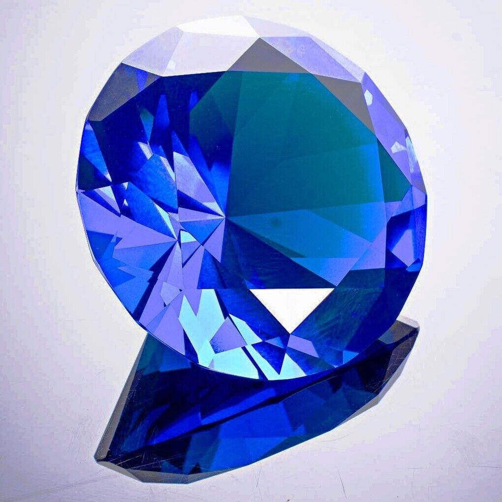 Round Crystal Diamond Paperweight Decor Light Purple 3.25/'/' // 80 mm