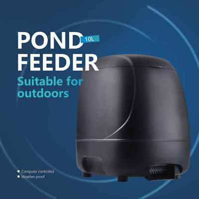 Automatic Fish Feeder Timer High Capacity Pond Feeding Dispenser for Outdoor Use for sale  Shipping to United States