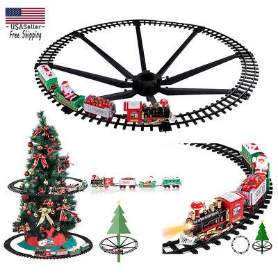 Christmas Tree Train Set- Electric Sound Railway Around the Tree Xmas Decoration