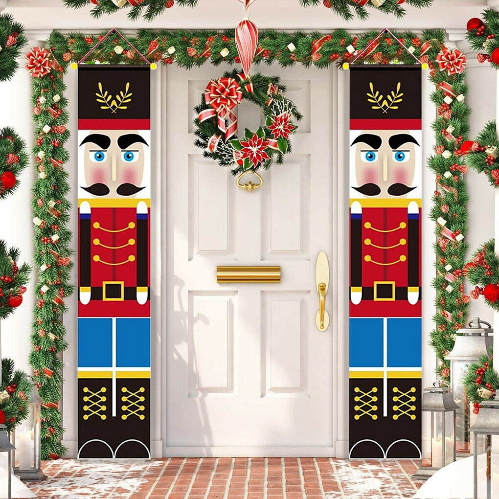 Details about  /Merry Christmas Xmas Santa Banner Flag Wall Hanging Home Party Decor Ornaments