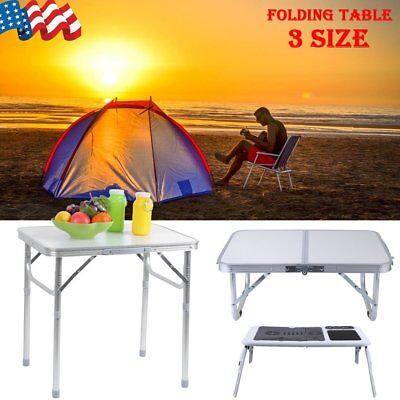 Portable Folding Aluminum Table Outdoor Picnic Party Dining Camping Desk Top US ()