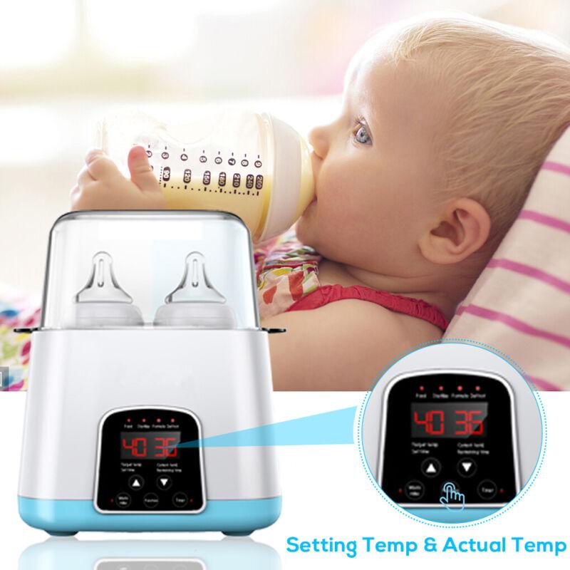 5 in 1 Baby Bottle Warmer Steam Sterilizer Portable Romote Control Food Heater