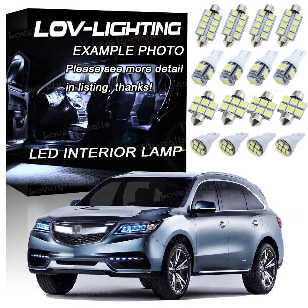 14Pcs 6000K White Interior LED Lights Package Kit Fits For
