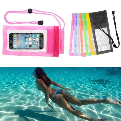 Under Water Proof Dry Pouch Bag Clear Case Cover Protector Holder For Cell Phone