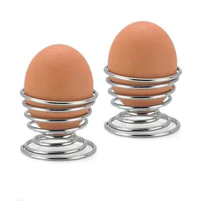 Hard Boiled Eggs Breakfast (10pcs Metal Egg Cup Spiral Kitchen Breakfast Hard Boiled Spring Holder Egg)
