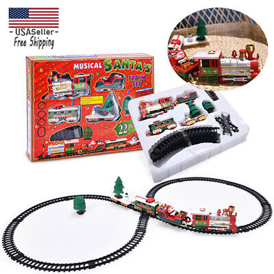 Christmas Under Tree Classic Express Train Set Traditional Xmas Decoration Toys