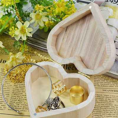Heart Shape Jewelry Storage Wood Boxes Wedding Gift Makeup Container (Heartwood Jewelry Boxes)