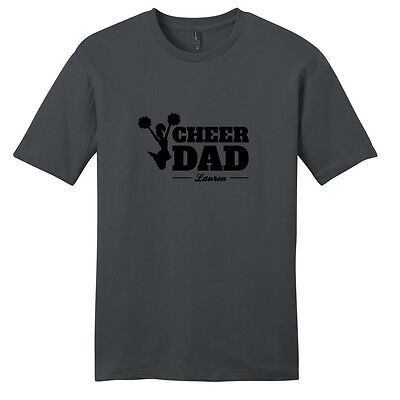 Custom Cheer Dad T-Shirt - Unisex Men's Personalized Athlete Sport Shirt