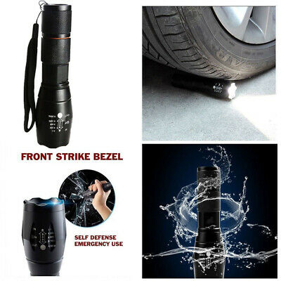 3 x Tactical 18650 Flashlight T6 High Powered Zoomable Aluminum Police Torch USA