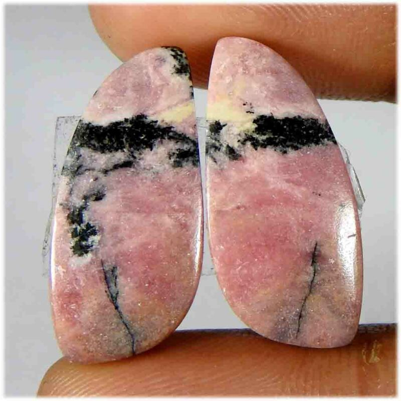 30.05Cts100%Natural Rhodonit Rhodonite Fancy/Pair Cabochon Loose Gemstone