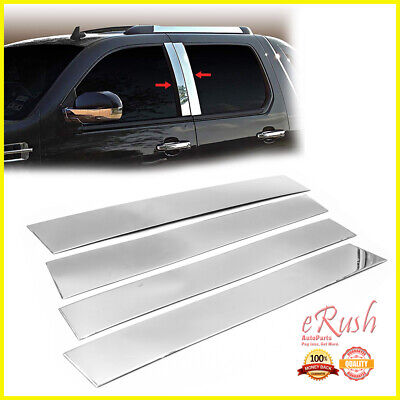 CHROME STAINLESS STEEL PILLAR POSTS FOR 2007-2014 CADILLAC ESCALADE 4PCS SET
