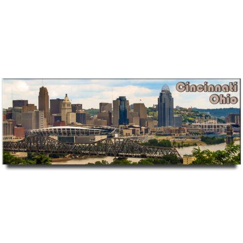 Ohio travel souvenir Cincinnati panoramic fridge magnet