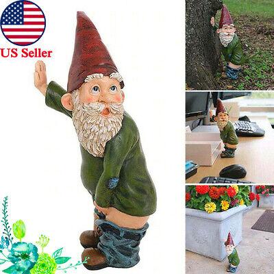 Garden Gnome Statue Heigth 6.3 Inch Patio Decor Polyresin Gnome Cover Ears
