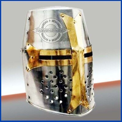 Knight Armor Crusader New Templar Helmet Helm Mason's Cross Halloween Presents