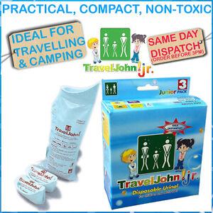 Traveljohn Junior Disposable Urine Bags Emergency Toilet