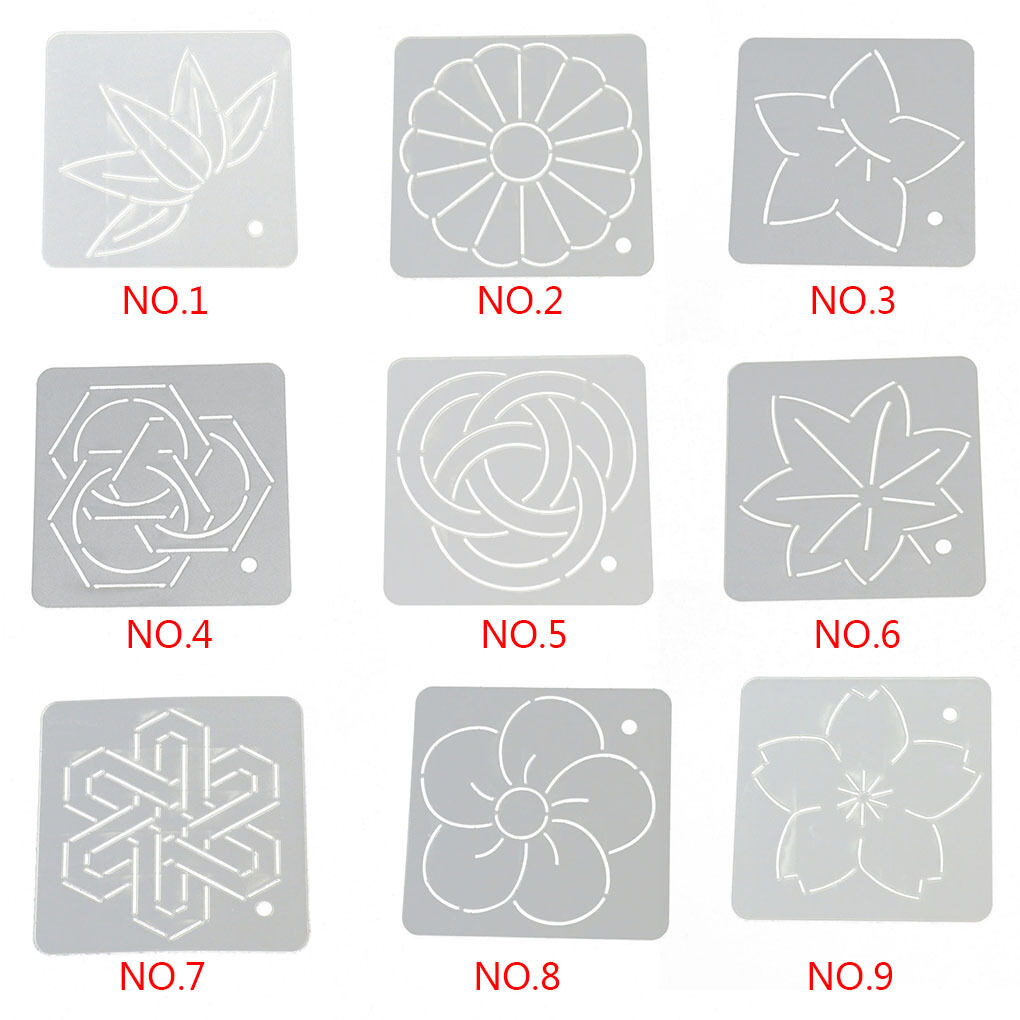 Acrylic Embroidery Quilt Template Stencils Patchwork Tools Crafts 4.7*4.7inch