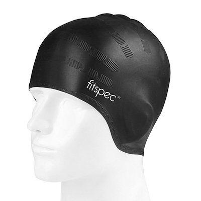 Fitspec Silicone Swimming Cap Adult Large Men Ladies Female Swim Hat