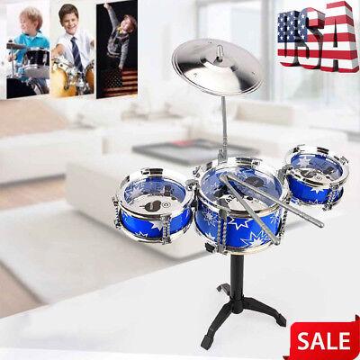 Jazz Drum Kits (Beginner Children Kid JAZZ Drum Set Kit Drum With Sticks Musical Educational)