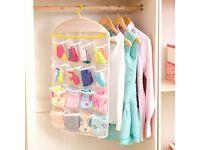16 Pocket Hanging Bag Over Door Hanger Storage Organiser