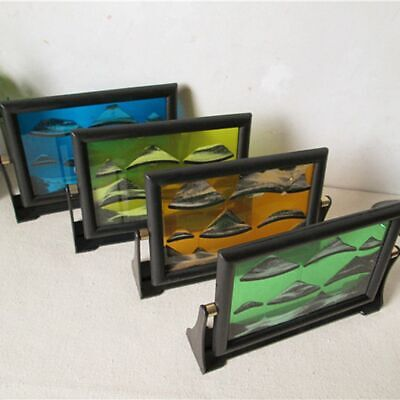 Drifting Moving Sand Glass Art Picture Photo Frame Home Decor Birthday Xmas gift ()