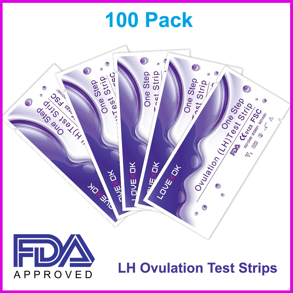 100 pack early ovulation hl test strips